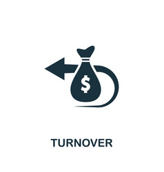 Turnover icon symbol creative sign from business vector