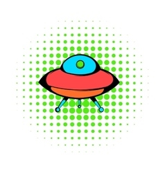 UFO icon comics style vector