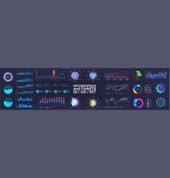 Ui interface and intelligent infographic vector