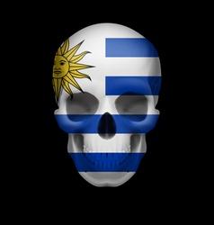Uruguayan flag skull vector
