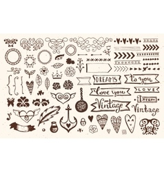 Vintage Style elements vector