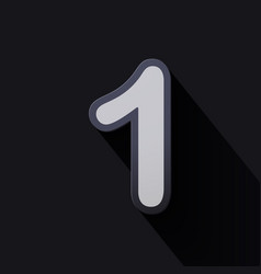 Volume icons number one vector