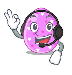 With headphone color the easter eggs isolated vector