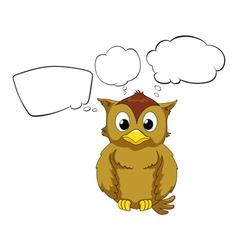A thinking owl vector image vector image