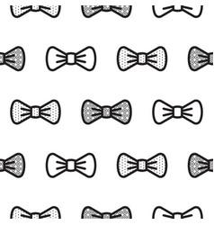 bow tie little gentleman seamless pattern vector image