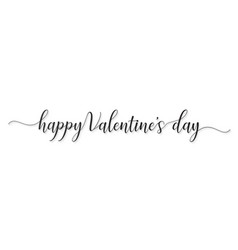 happy valentines day hand lettered card greeting vector image vector image