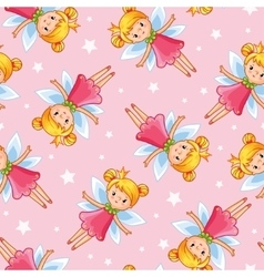 seamless of a young cute little fairy vector image vector image
