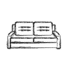 sofa furniture comfort sketch vector image