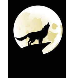 Wolf Howling at the Moon2 vector image