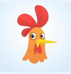 cartoon cute rooster vector image