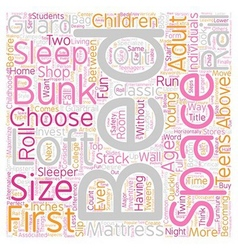 How to buy a loft bed bunk beds text background vector image vector image