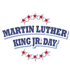 Martin Luther King Jr Day logo symbol vector image vector image