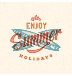 Retro Style Summer Card Emblem or a Logo vector image vector image