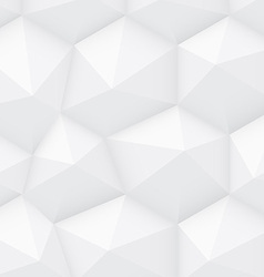 White Polygonal Background vector image