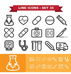Line icons set 35 vector image vector image
