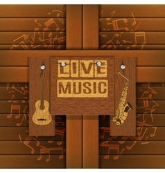 musical background with wooden boards vector image vector image