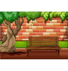 Outdoor sitting area on the walkway vector image