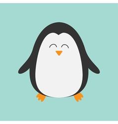 Penguin smiling face cute cartoon character arctic vector