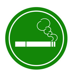 sign smoking area vector image