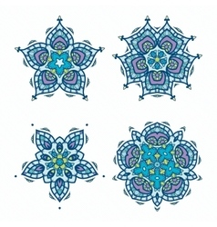 Snowflakes Ornament Pack vector image