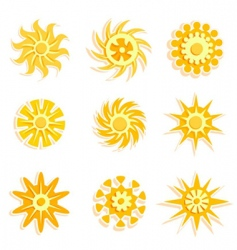 sun designs vector image vector image