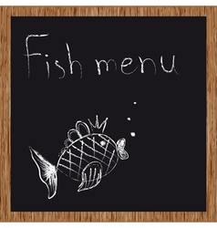 Template of a fish restaurant vector image vector image