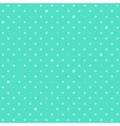 Blue green mint star polka dots background vector