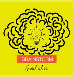 brainstorming creative good idea icon vector image
