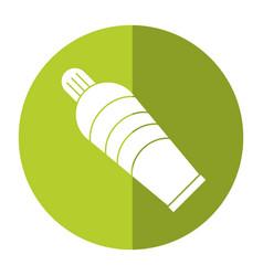 plastic tube cream icon shadow vector image