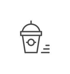 smoothie line icon vector image vector image