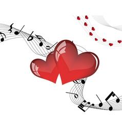 valentine music vector image