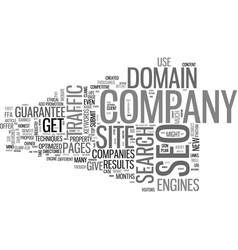 when to not hire a seo and why text word cloud vector image