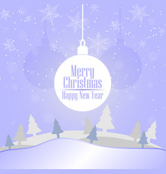 2019 christmas and happy new year greeting card vector image