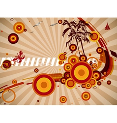 Abstract background with some shapes different vector image