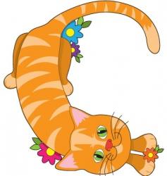 Alphabet animal c vector
