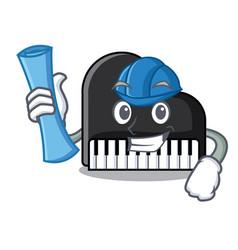 architect piano character cartoon style vector image