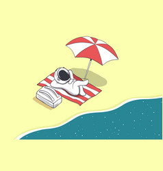 Astronaut on vacation vector