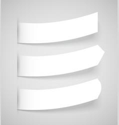 Attach stickers set vector