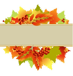 autumn text box vector image