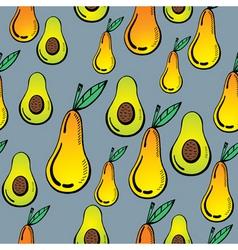 avocado and pear vector image