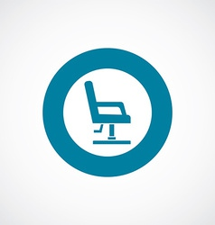 Barber chair icon bold blue circle border vector