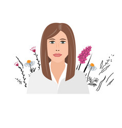 beautiful young businesswoman portrait on wild vector image