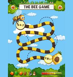 Bee board game vector