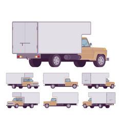 beige truck set vector image