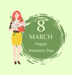 Best wishes on womens day 8 march holiday vector