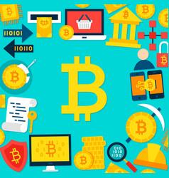 bitcoin flat template vector image