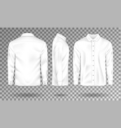 blank male shirt template realistic men s shirt vector image