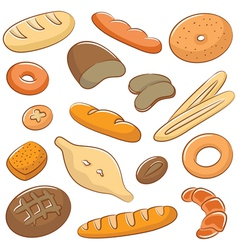 Bread Doodles vector image