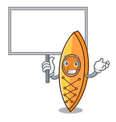 Bring board canoe character cartoon style vector