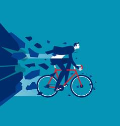 businessman breakthrough concept business vector image